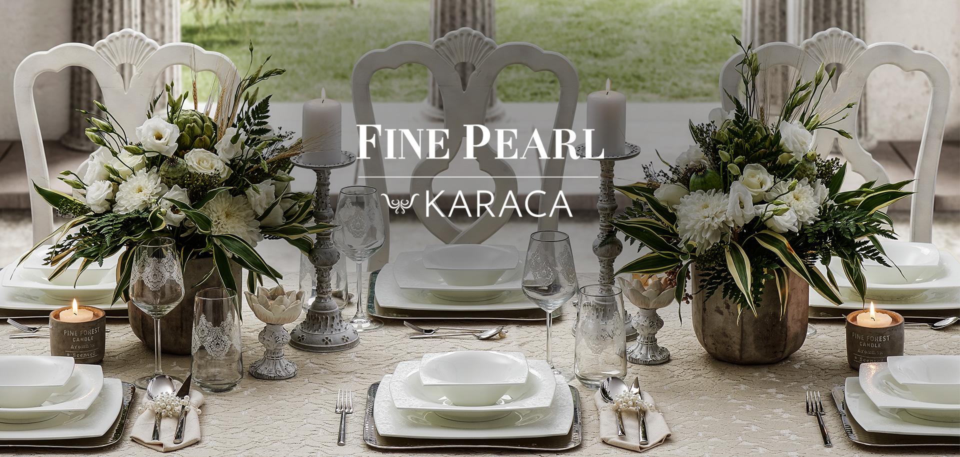 Karaca Fine Pearl Serisi ile İnci Şıklığı Sofralarda